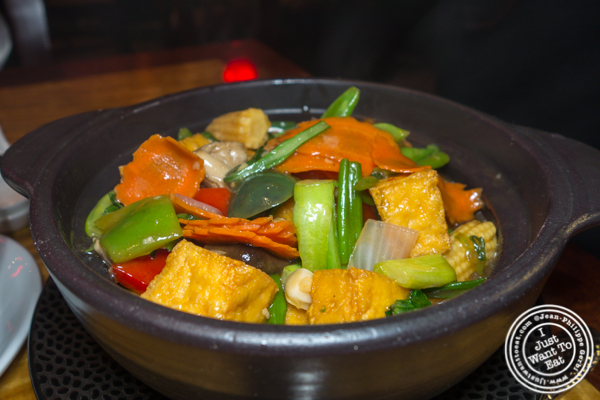 Tofu casserole at Bugis Street Brasserie and Bar in Times Square