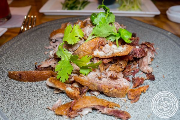 Crispy duck at Bugis Street Brasserie and Bar in Times Square