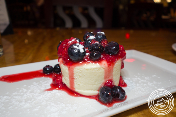 Junior's cheesecake at Bugis Street Brasserie and Bar in Times Square