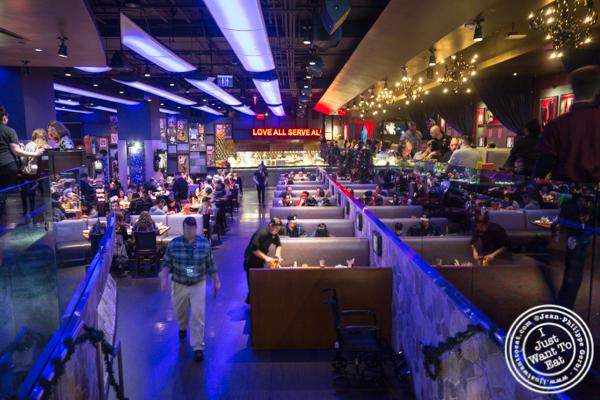 Dining rom at Hard Rock Café in Los Angeles