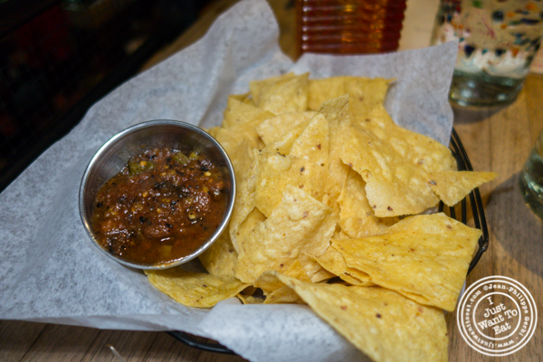 Chips and salsa at Puesto at The Headquarters in San Diego
