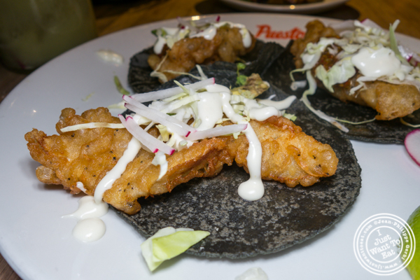 Baja fish tacos at Puesto at The Headquarters in San Diego