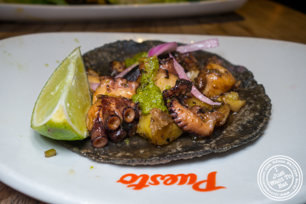 Octopus taco at Puesto at The Headquarters in San Diego