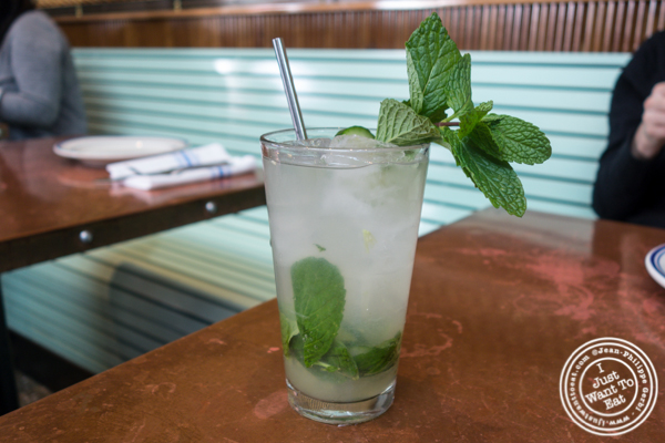 Cucumber mint lemonade at Ironside Fish & Oysters in San Diego
