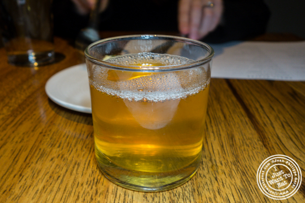 Apple juice at Juniper & Ivy in San Diego