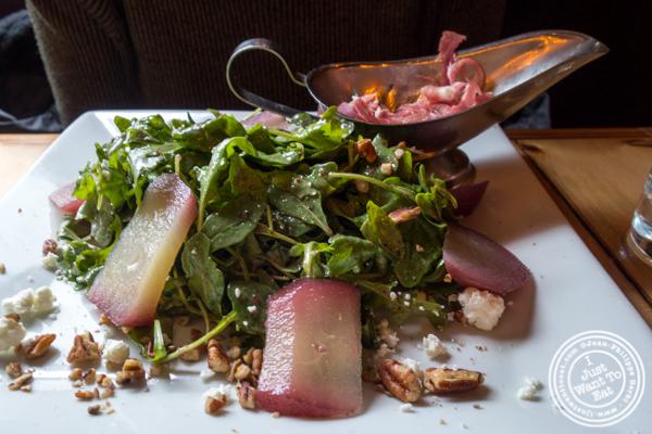 Pear and arugula salad at Grand Vin Kitchen and Bar in Hoboken