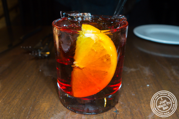 Negroni at Sociale in Brooklyn