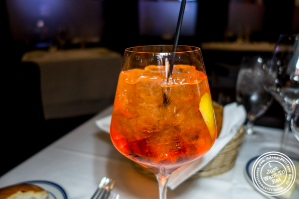 Aperol Spritz at Tuscany Steakhouse in NYC, NY