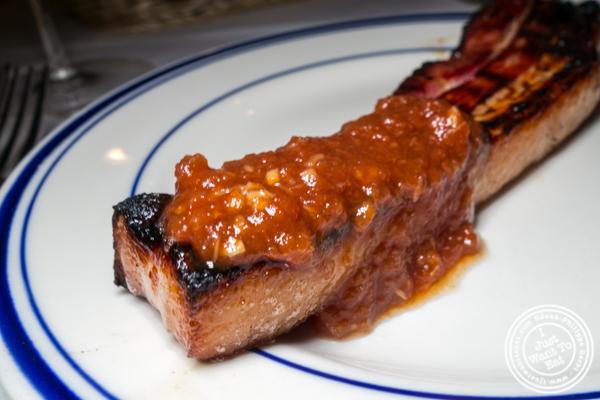 Canadian bacon at Tuscany Steakhouse in NYC, NY