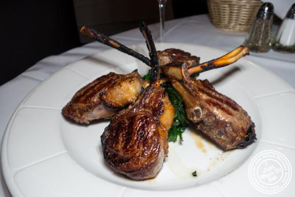 Lamb chops at Tuscany Steakhouse in NYC, NY