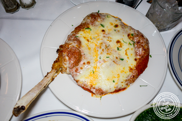 Veal Milanese at Tuscany Steakhouse in NYC, NY