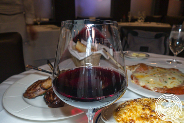 Glass of Chianti at Tuscany Steakhouse in NYC, NY