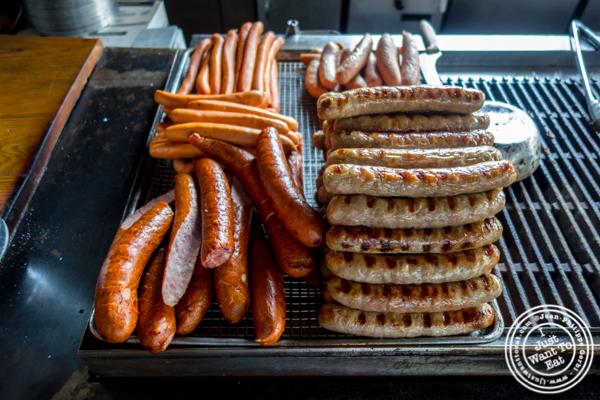 Sausages at Pilsener Haus & Biergarten in Hoboken, NJ