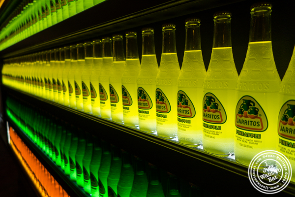 Jarritos wall at Orale in Hoboken, NJ