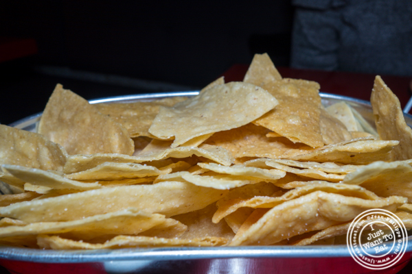 Tortilla chips at Orale in Hoboken, NJ