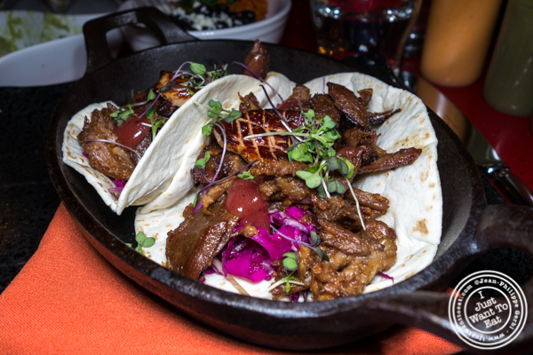 Peking duck tacos at Orale in Hoboken, NJ
