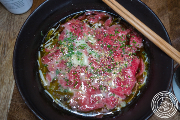 Wagyu ramyun at Jeju Noodle Bar in Greenwich Village