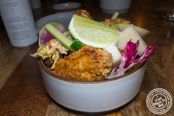 Fried chicken at Jeju Noodle Bar in Greenwich Village