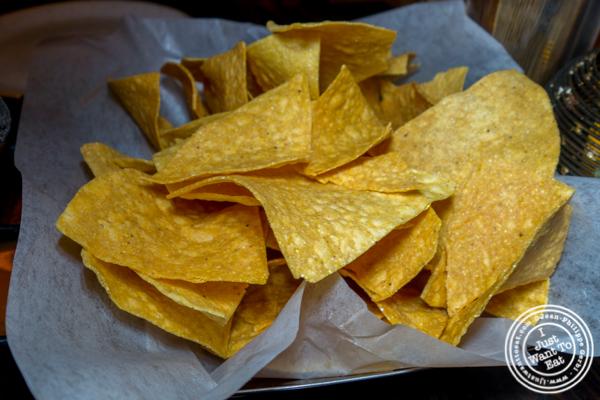 Tortilla chips at Dos Caminos Times Square