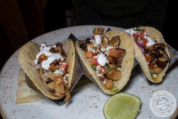 Vegetarian tacos at Dos Caminos Times Square