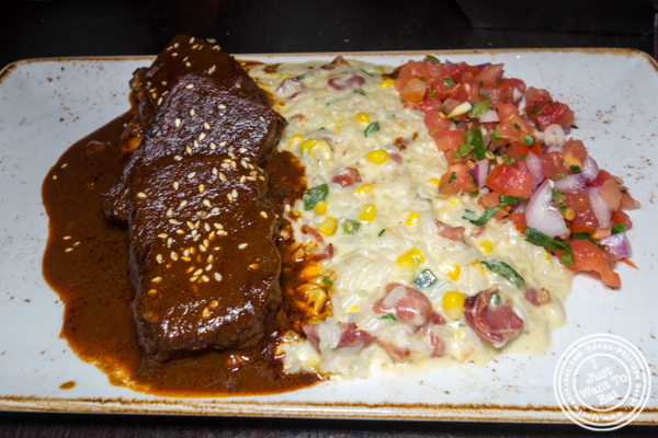 Ribs in mole sauce at Dos Caminos Times Square