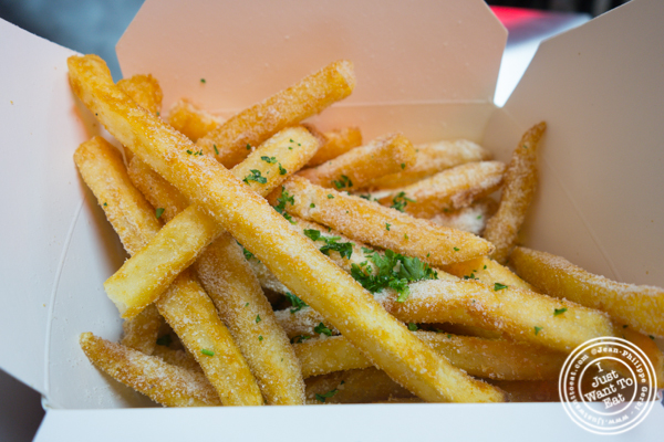 Truffle parm fries at Sticky's Finger Joint in Times Square