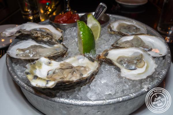 Oysters at Thalia in NYC, NY