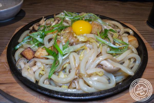 Sizzling sukiyaki at TsuruTonTan in NYC, NY