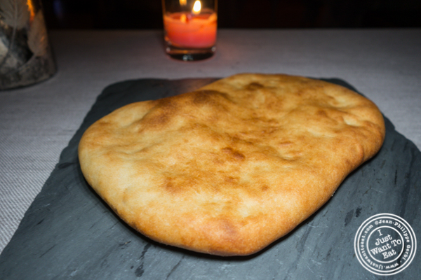 Lavash bread at L'Appart in NYC