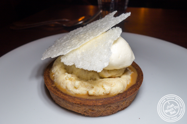 Rice pudding tart at Frenchette in TriBeCa