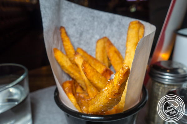 French fries at Farm to Burger in Times Square