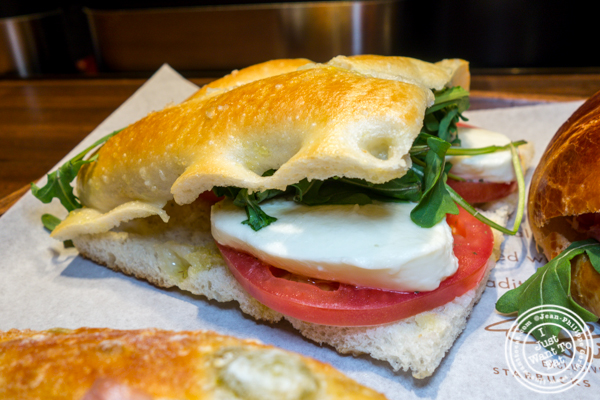 Caprese sandwich at Starbucks Reserve Roastery in NYC, NY