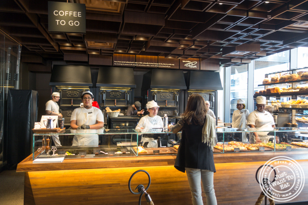 Pizza station at Starbucks Reserve Roastery in NYC, NY
