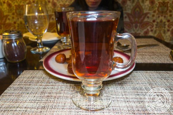 Persian tea at Ravagh Persian Grill in NYC, NY