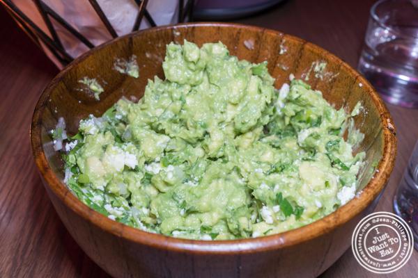 Guacamole at Vida Verde in NYC, NY