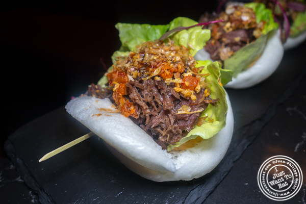 Beef cheek buns at Valerie in NYC. NY