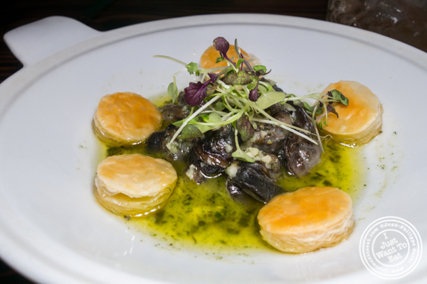 Escargots at The Harrow in Hell's Kitchen
