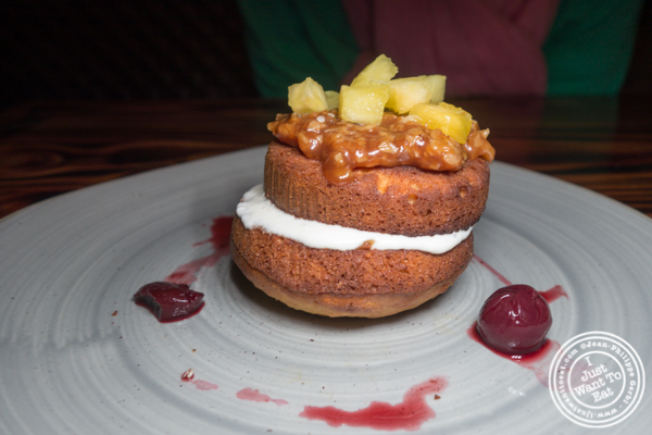 Sweet honey cake at The Harrow in Hell's Kitchen