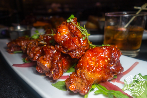 Korean BBQ wings at Proper West in NYC, NY