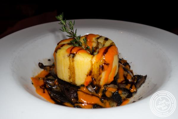 Polenta and mushroom at Da Andrea in NYC, NY