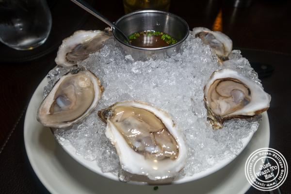 Oysters at Charlie Palmer Steak in NYC, NY