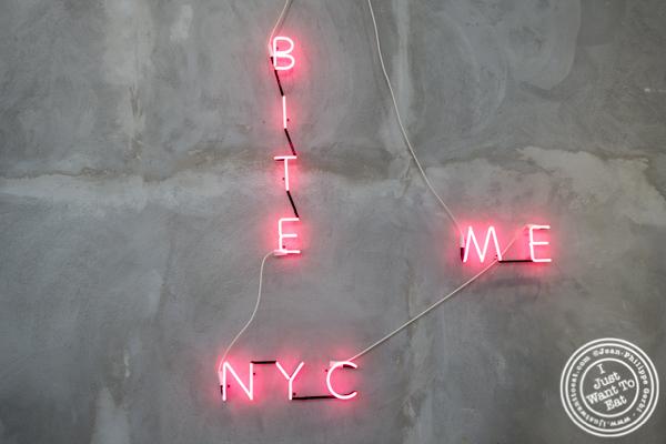Decor at Supermoon Bakehouse in NYC, NY