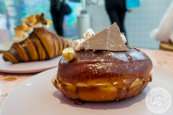 Chocolate hazelnut donut at Supermoon Bakehouse in NYC, NY