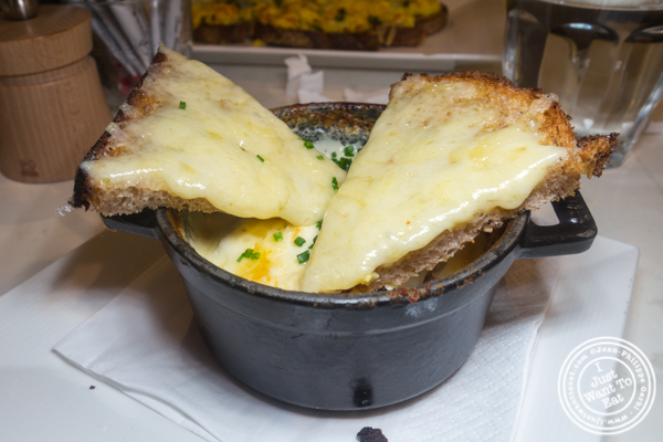 Oeuf cocotte Parisienne at Maison Kayser in NYC, NY