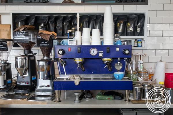 Espresso machine at The Mill in LIC