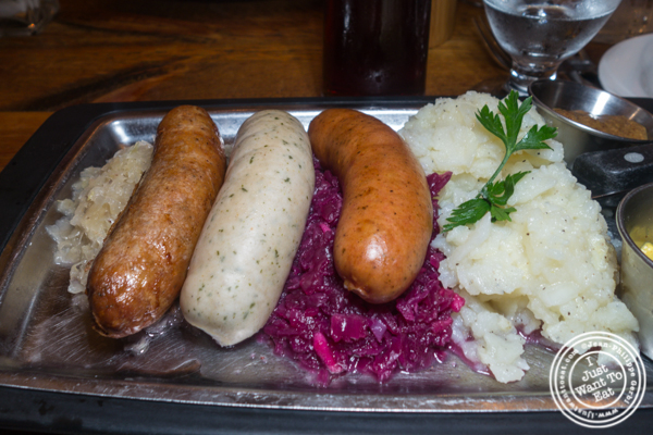 Sausage sampler at Heidelberg on the Upper East Side