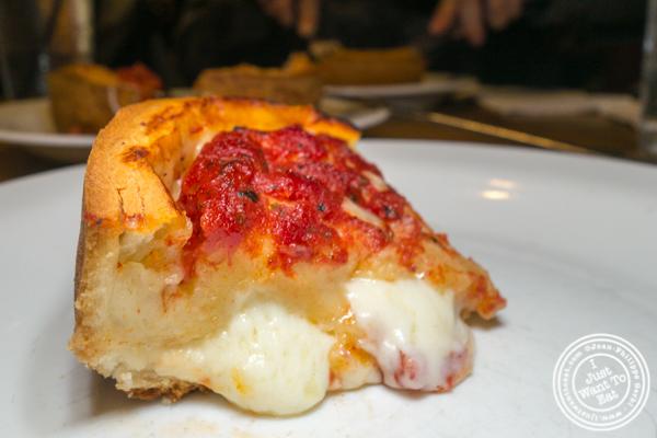 Deep dish pizza at Giordano's in Chicago, Il