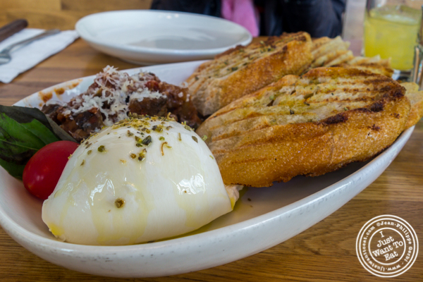 Burrata con panna at Love and Dough in Brooklyn