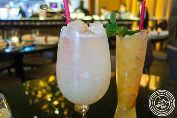 Lychee meringue cocktail at DaDong in NYC, NY