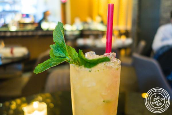Just Peachy cocktail at DaDong in NYC, NY